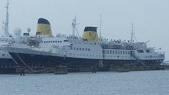 Portuscale Cruises - Image: Funchal and Porto docked in Cais da Matinha (Porto)
