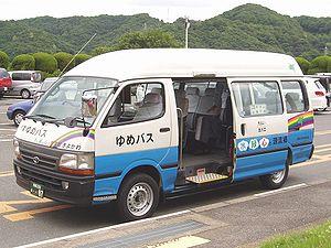 Sliding door (car) - A minibus with a sliding door
