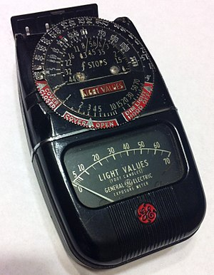 Foot-candle - General Electric Light Meter used in photography to measure light values in foot candles.