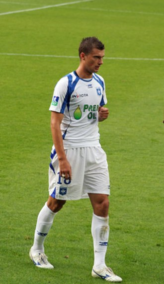 Gabriel Tamaș - Tamaș playing for Auxerre in 2008