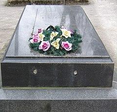 Могила  зарубленного националистами писателя Ярослава Галана