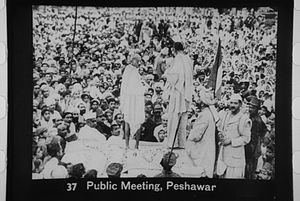 Bacha Khan - Bacha Khan with Gandhi at Peshawar