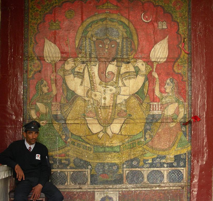 File ganesha mural city palace wikimedia for Mural ganesha