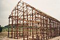 Ganondagan - Longhouse under construction.jpg