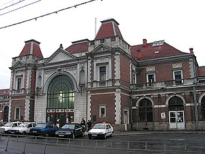 Cluj-Napoca train station - View of the station building
