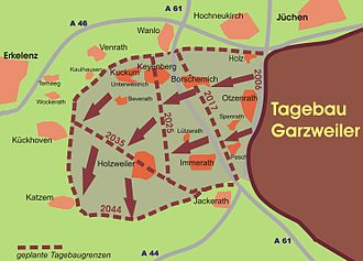 Erkelenz - Eastern villages that are to give way to the Garzweiler II open-cast coal mine.