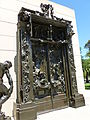 Gates of Hell sculpture by Rodin; angled view from left.JPG