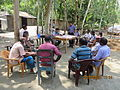 Gathering in a meeting of villagers in an Bangladeshi village 2015 02.jpg