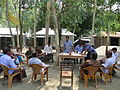 Gathering in a meeting of villagers in an Bangladeshi village 2015 09.jpg