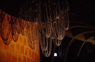Catenary - Antoni Gaudí's catenary model at Casa Milà