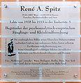 Gedenktafel Taubertstr 5 (Grunew) Rene A Spitz.jpg
