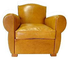 fauteuil club wikip dia. Black Bedroom Furniture Sets. Home Design Ideas