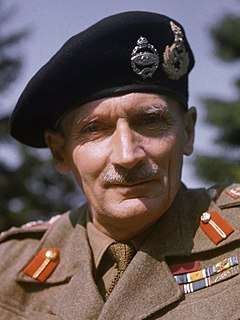 Bernard Montgomery British Army officer, Commander of Allied forces at the Battle of El Alamein