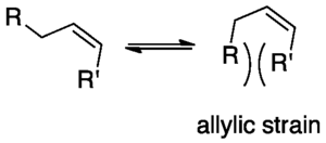 Allylic strain -  Allylic strain in an olefin.