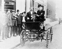 George B Selden Driving An Automobile In 1905