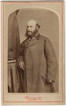987c4ddc5035 George Philip Cecil Arthur Stanhope, 7th Earl of Chesterfield, circa 1860,  wearing an early example of a Chesterfield coat (1860).