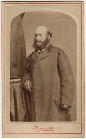 Chesterfield coat - George Philip Cecil Arthur Stanhope, 7th Earl of Chesterfield, circa 1860, wearing an early example of a Chesterfield Coat
