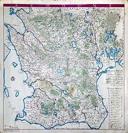 Karta Skane Och Danmark.Skane Wikipedia