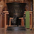 Germany Bardowick cathedral baptismal font.jpg