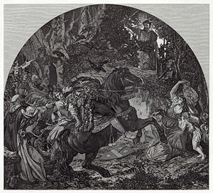 An engraving depicting the death of Albrecht G...