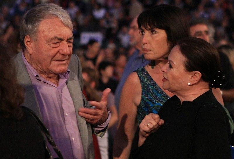 File:Gila Almagor and Claude Lanzmann At Jerusalem Film Festival.jpg