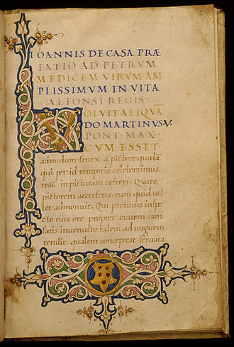 Giovanni della Casa - Leaf from Life of Alphonso VI, King of Aragon and Naples (1416-1458)
