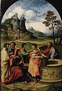 Girolamo da Treviso - Christ and the Samarian woman at the well GG 128.jpg