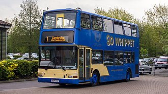 Go Whippet - Plaxton President bodied Dennis Trident 2 at St Ives bus station in May 2012