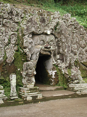 Goa Gajah - Entrance to the 'Elephant Cave'