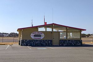 Gold Beach Municipal Airport - Image: Gold Beach Municipal Airport office building, Oregon