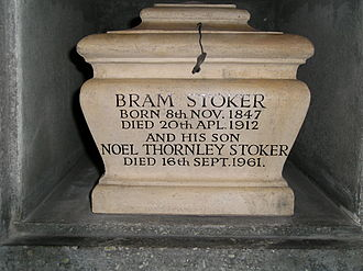 Bram Stoker - Urn which contains Stoker's ashes in Golders Green Crematorium