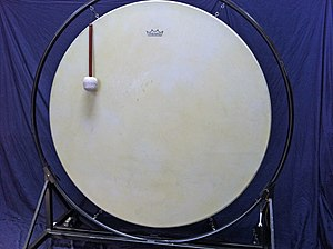 Gong bass drum - Image: Gong Drum (from Emil Richards Collection)