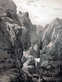 Gorge in the mountains, Fars by Eugène Flandin.jpg