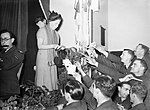 Gracie Fields entertaining RAF personnel in France, December 1939. C209.jpg