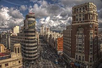 Madrid - Image: Gran Vía (Madrid) 1