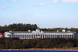 Grand Hotel (Mackinac Island) - The Grand Hotel as seen from the lake