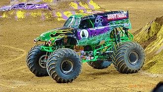 Monster Jam - Grave Digger, one of the most popular monster trucks on the Monster Jam tours
