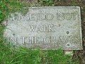 Grave Sign - geograph.org.uk - 1331911.jpg