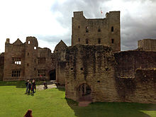 K Kitchens Ludlow The Great Kitchen (right), in front of the innermost bailey, and the ...