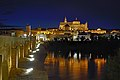 Great Mosque, Roman bridge and Guadalquivir at the night. Cordoba, Spain.jpg