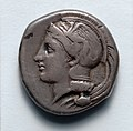 Greece, late 5th century BC - Stater- Athena (obverse) - 1917.996.a - Cleveland Museum of Art.jpg