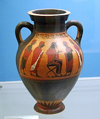 euboean black-figure belly amphora