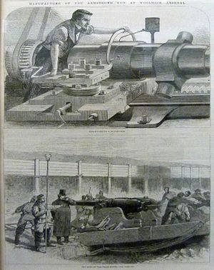 Woolwich - Workers at the Royal Arsenal, 1862
