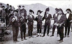 Circle dance - Laz dancers in Armenia, circa 1911