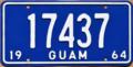 Guam license plate 1964 17437.png