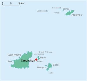 Crevichon - Location map of Crevichon
