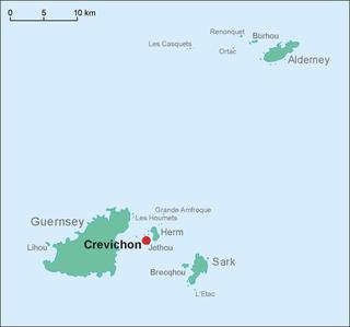 Crevichon island in Guernsey