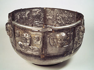 Gundestrup cauldron - Another view; exterior plates d, e, c, f