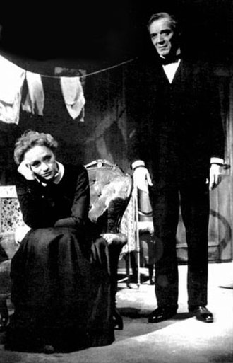 Gunn Wållgren - On stage: as Indra's daughter in ADream Play by August Strindberg, The Royal Dramatic Theatre, 1955