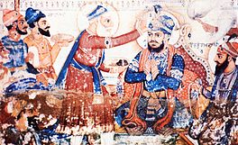 Guru Arjun Dev being pronounced fifth guru.jpg
